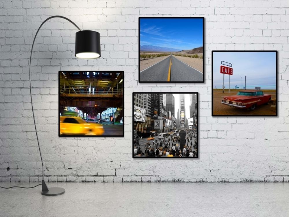 tats unis tirages 50x50 esprit combi. Black Bedroom Furniture Sets. Home Design Ideas