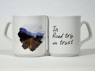 Mug In Road trip we trust