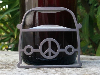 Peace and Love bottle opener