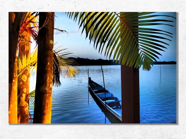 St Jean du Maroni, Guyane - Toile 40x60 par Esprit Combi - 58,00 €