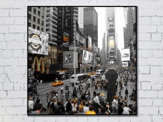 Time Square, États-Unis - Tirages 50x50 par Esprit Combi - 30,00 € -17%